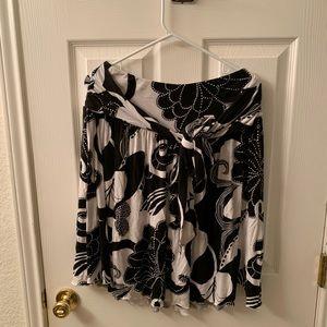 Bebe Floral Print Skirt